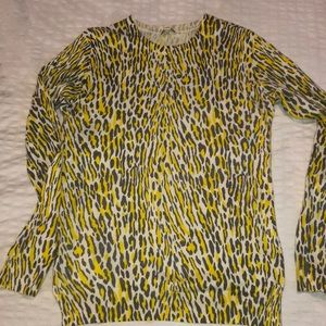 Neon Leopard Print Sweater small